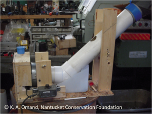Seed cleaner device, custom built for NCF by Richard Omand, Strafford Machine, Inc.