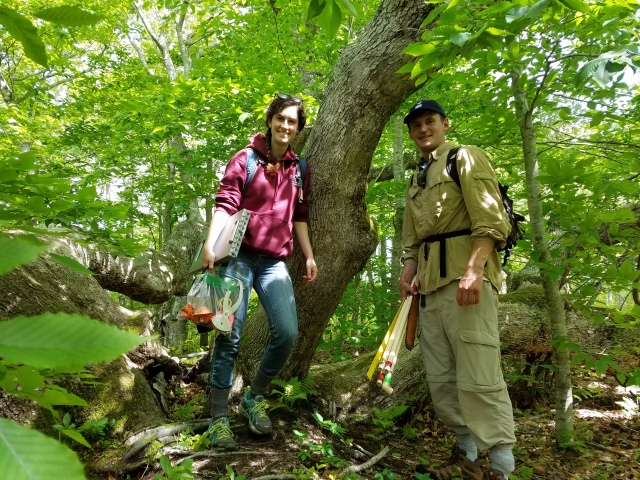 Corrina Marshall and Alex Etkind in Squam Swamp